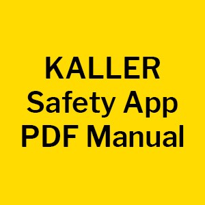 For further assistance, please contact: app@kaller.com.